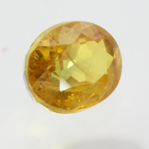 Golden Yellow Sapphire Faceted Oval 5.8 x 4.5 mm Natural Gemstone .79 carat