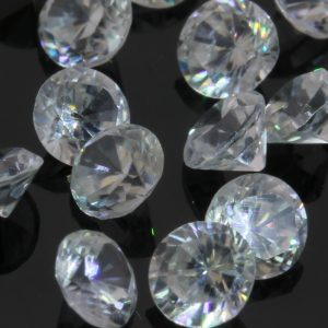 One White Zircon Well Faceted 3.50 mm Round Accent Gem Averages .26 carat