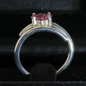Sparkling Purple Pink Burmese Spinel Handtooled 925 Silver Ladies Ring size 6