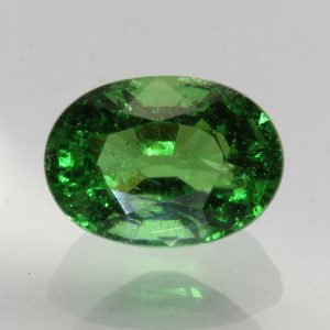 Chrome Green Tourmaline Faceted 8.5x6.1mm Oval Tsavorite Color Gem 1.70 carat