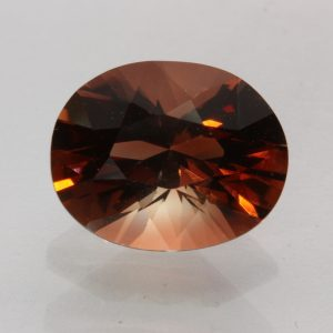 Oregon Red Orange Sunstone Precision Faceted Oval Untreated Gem 3.30 carat
