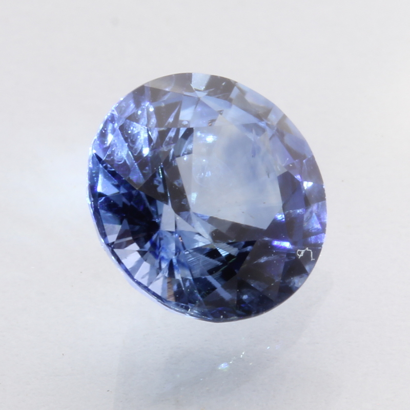 Ceylon Blue Sapphire 7.2 mm Round Diamond Cut Heat Only Gemstone 1.76 carat