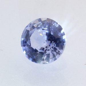 Ceylon Blue Gray Sapphire 6.5 mm Round Diamond Cut Heat Only Gemstone 1.35 carat