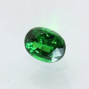 Deep Grass Green Tsavorite Oval Faceted 5.1 x 3.9 x 2.9 mm Gemstone .50 carat