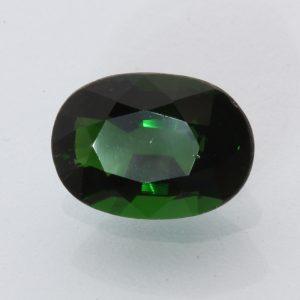 Chrome Green Tourmaline Faceted 9.5 x 6.8 mm Oval Tsavorite Color Gem 1.90 carat