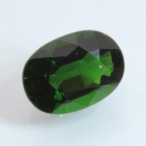 Chrome Green Tourmaline Faceted 9.5 x 6.8 mm Oval Tsavorite Color Gem 1.90 carat