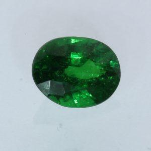 Medium Grass Green Tsavorite Garnet Oval Faceted 5.4 x 4.3 mm Gemstone .47 carat