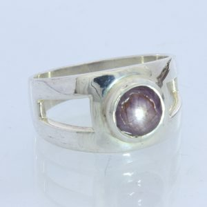 Star Ruby, no glass filling, Handmade Silver Unisex Gents Ladies Ring size 7.5