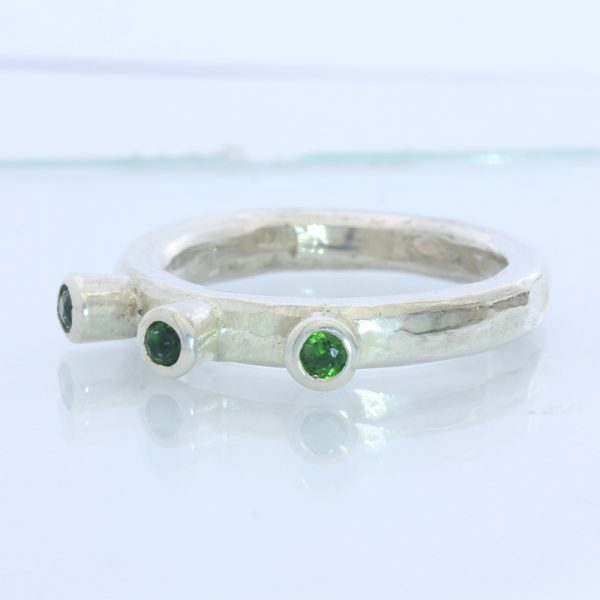 Chrome Diopside Unisex Gents Ladies Handmade Sterling 925 Silver Ring size 8.25