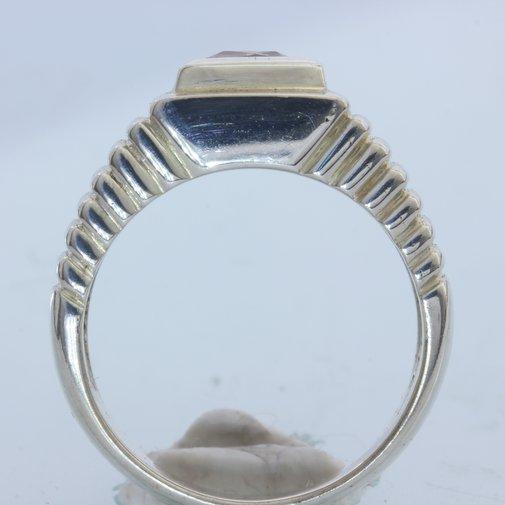 Bi-Color Tourmaline Handmade Sterling Silver Unisex Gents Ladies Ring size 9.75