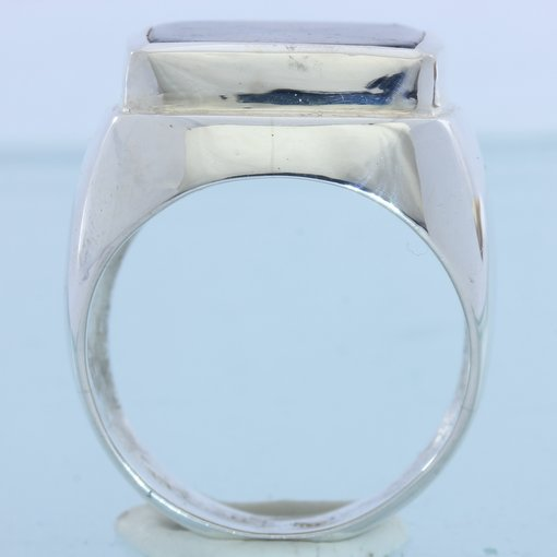 Chiastolite Cross Trapiche Andalusite Handmade Sterling Gents Mens Ring sz 10.5