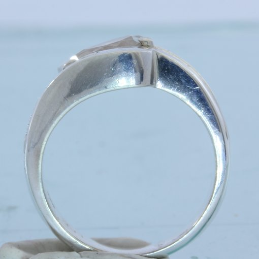 Natural White Clear Topaz Gemstone Handmade Sterling Silver Ladies Ring size 7.5