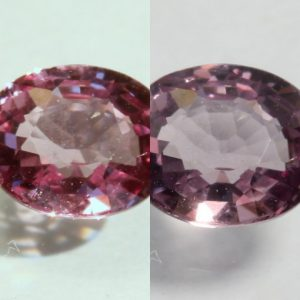 Color Shift Garnet Natural Purple Pink Change Faceted 5.8 x 4.8mm Oval .65 Carat