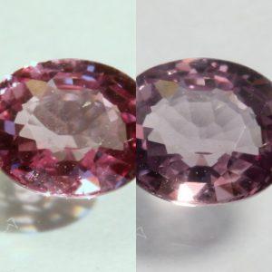 Color Shift Garnet Natural Purple Pink Change Faceted 5.8 x 4.8mm Oval .65 Carat