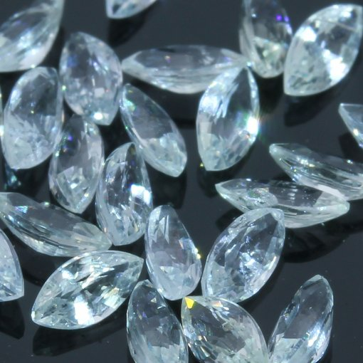 One Ceylon White Sapphire Faceted 4x2 mm Marquise Accent Gem Averages .13 carat