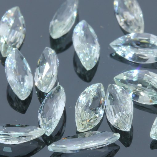 One Ceylon White Sapphire Faceted 6x3 mm Marquise Accent Gem Averages .22 carat