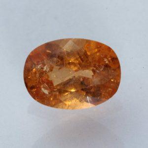 Fanta Orange Spessartine Garnet Faceted Oval Mandarin Spessartite Gem 3.01 carat