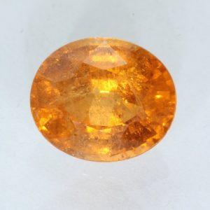 Fanta Orange Spessartine Garnet Faceted Oval Mandarin Spessartite Gem 2.48 carat