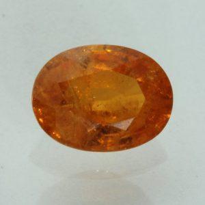 Fanta Orange Spessartine Garnet Faceted Oval Mandarin Spessartite Gem 2.72 carat