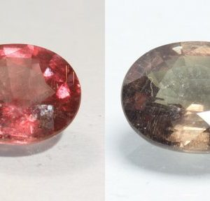 Color Change Garnet Natural Red Green Faceted 8.3 x 7 mm Oval Gem 2.01 Carat