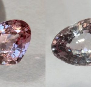 Color Shift Garnet Pink Faceted Pear Natural Africa Gemstone .76 Carat