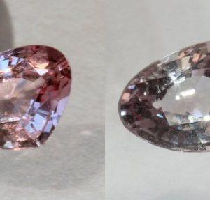 Color Shift Garnet Pink Faceted Pear Natural Africa Gemstone .76 Carat