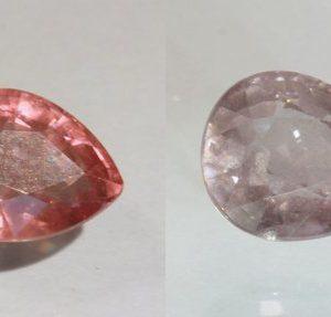 Color Shift Garnet Purple Pink Faceted Pear Natural African Gemstone 2.08 Carat