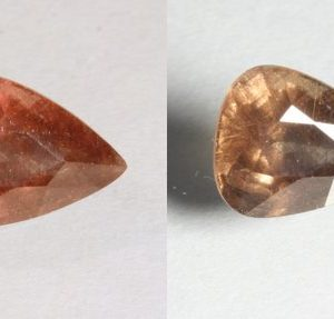 Color Change Garnet Red Orange Faceted Pear Natural African Gemstone 1.97 Carat