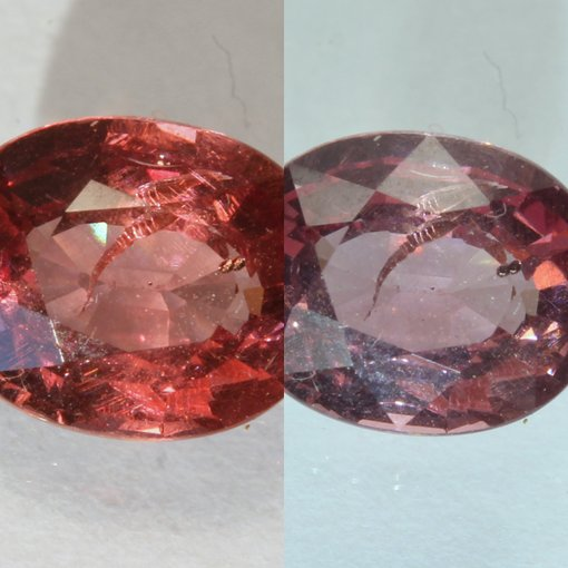 Color Change Garnet Natural Red Green Faceted 7 x 5 mm Square Cushion 1.21 Carat