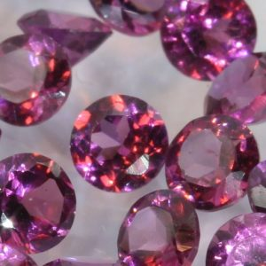 One Purple Rhodolite Garnet Accent Gem 3 mm Faceted Round Average .12 carat each