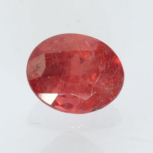 Orange Red Spinel Mogok Oval Faceted 7.6 x 6.3 mm Natural Gemstone 1.47 carat