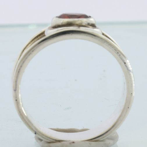 reddish Brown Spinel Faceted Oval Handmade Sterling Silver Ladies Ring size 9.25