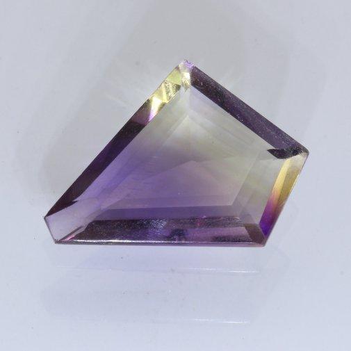 Lab Created Ametrine Yellow Purple Quartz 17.8 x 12.2 mm Faceted 5.35 carat