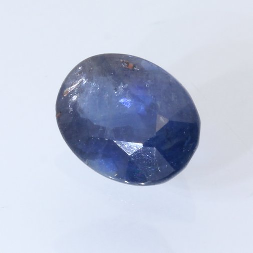 Deep Blue Sapphire Heat Only Faceted 8 x 6 mm Oval African Gemstone 1.73 carat