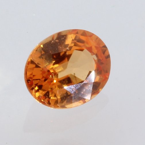 Fanta Orange Sapphire Faceted Oval Heated Only Natural Gemstone 1.20 carat