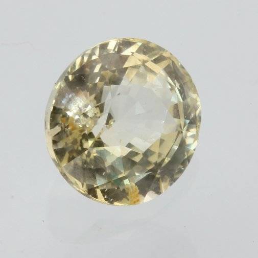 Sparkling Yellow White Sapphire Faceted Oval Natural Gemstone 2.00 carat