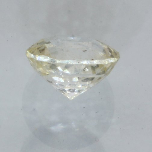 Sparkling Light Yellow Sapphire Faceted 6.2 mm Round Natural Gemstone 1.25 carat