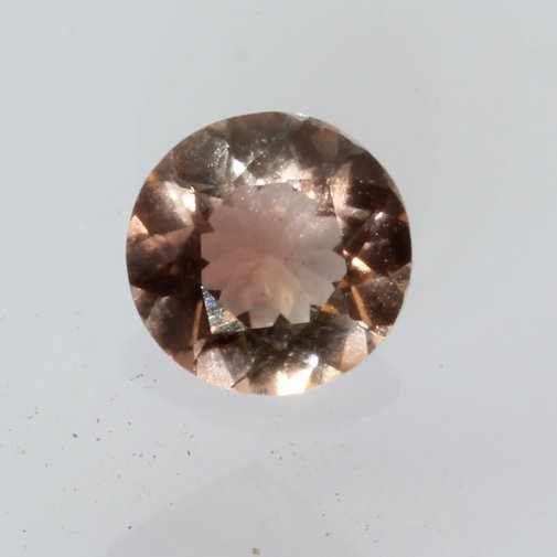 Oregon Sunstone Copper Pinkish Peach Round Faceted Untreated Gemstone .47 carat