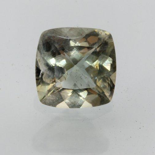 Oregon Sunstone Copper White Faceted Cushion Cut Untreated Gemstone 1.89 carat