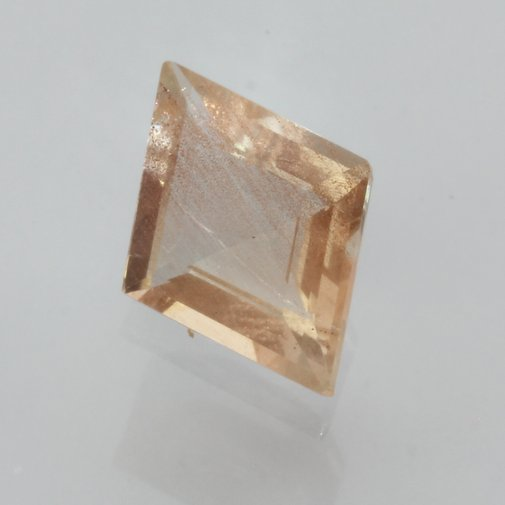 Oregon Sunstone Copper Light Peach Faceted Kit Untreated Gemstone 1.48 carat