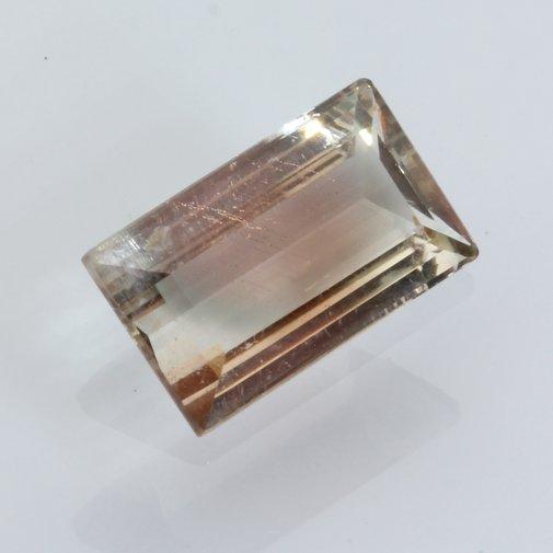 Oregon Sunstone Copper Light Peach Faceted Rectangle Cut Untreated Gem 2.32carat