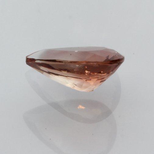 Oregon Sunstone Copper Orange Peach Faceted Pear Untreated Gemstone 1.18 carat