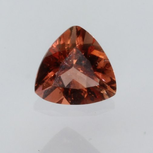 Oregon Sunstone Copper Red Orange Peach Faceted Triangle Untreated Gem .41 carat