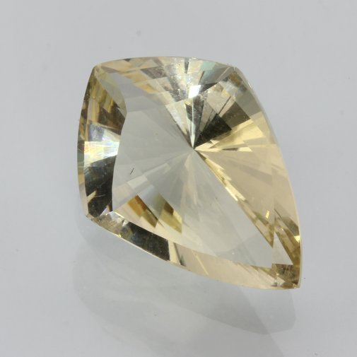 Oregon Sunstone Clear Bright Yellow Faceted Fancy Cut Untreated Gem 8.80 carat
