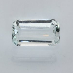 Aquamarine Light Blue Beryl Faceted Rectangle Octagon Heat Only Gem 1.95 carat
