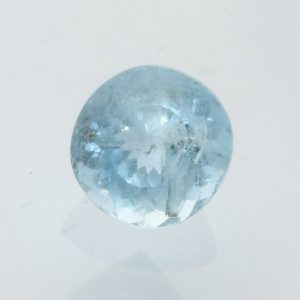 Aquamarine Light Blue Beryl Faceted Round 6.9 x 6.8 mm Heat Only Gem 1.30 carat