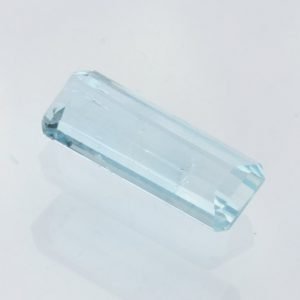 Aquamarine Light Blue Beryl Faceted Rectangle Octagon Heat Only Gem 2.47 carat