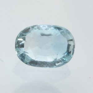 Aquamarine Light Blue Beryl Faceted Oval 8.6 x 6.2 mm Heat Only Gem 1.55 carat