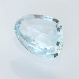 Aquamarine Light Blue Beryl Faceted Pear 9.7 x 7.4 mm Heat Only Gem 1.11 carat