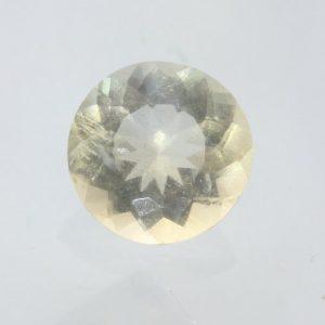 Citrine Gem Burmese Natural Yellow Quartz Faceted 7.2 x 7.1 mm Round 1.14 carat